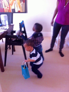 Easter Sunday brunch and egg hunt with Jared, Zena, Auntie Dayo and Uncle Chris
