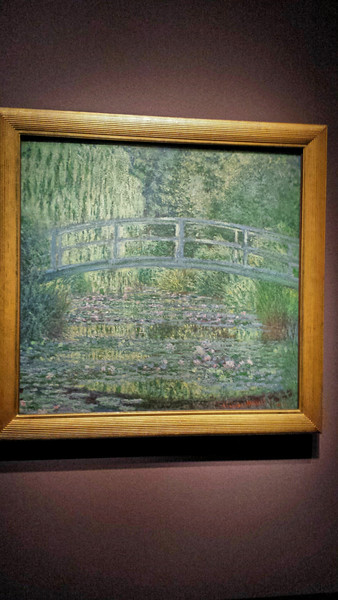 "Monet's probably most famous work, ""Bridge over a pond of water lillies"", is at the DIA."