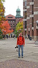 Radek on the University of Michigan campus.