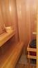 Sauna interior.