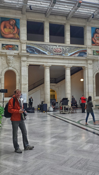 Hall in the Detroit Institute of Arts (DIA), where we went on one of the days of the trip.
