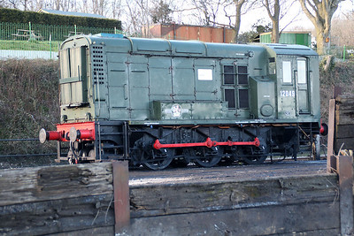 Class 11 0-6-0DE 12049 seen on Ropely Shed  15/03/14.