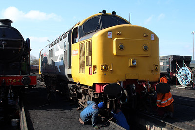 37901 'Mirlees Pioneer' seen outside Bury Shed on East Lancs Railway   13/04/13