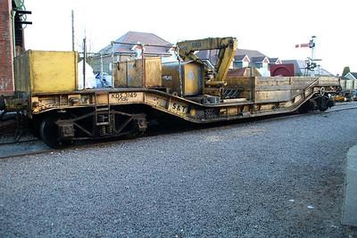 30t Warwell KDS3149 seen at Medstead Station Sidings  15/03/14.