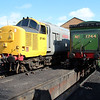 37901 'Mirlees Pioneer' outside Bury Shed on East Lancs Railway    13/04/13