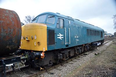 Class 45_45133 at Dereham  13/02/16
