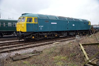 Class 47_47367 at Dereham  13/02/16