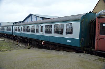 59117 Class 101 DMU at Dereham  13/02/16