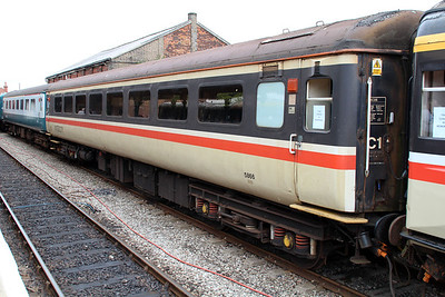 MK2 TSO 5866 at Dereham Station MNR.