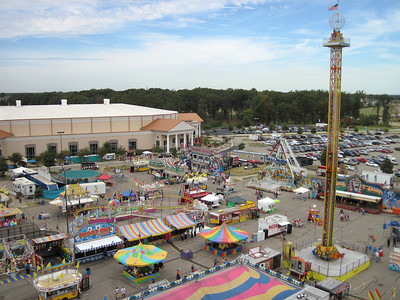 Arial view of a portion of the Mid-South Fair.   Picture taken at opening time Saturday September 25th (before the crowds arrived).