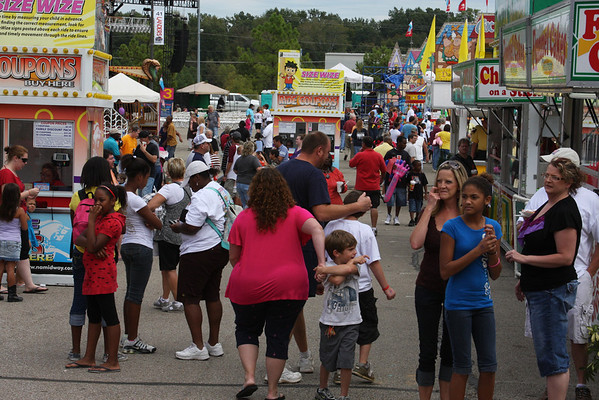 Midway and food at Mid-South Fair 2010