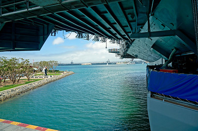 View from the port side elevator.