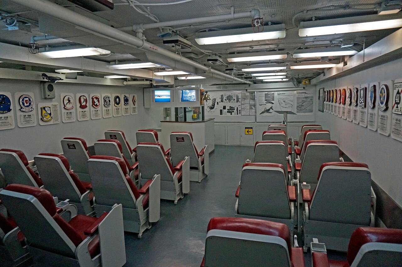 Pilot ready room.