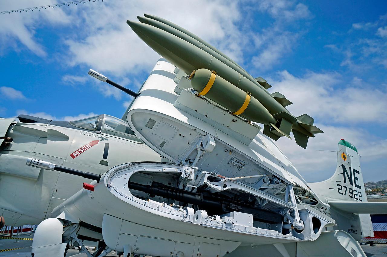 A7 Skyraider wing armament.