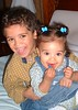 The beautiful Padfield grandkids... Richie and Nia Beane.  (Dated September 2004).  This photo won a prize in a national contest!