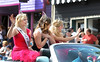 Princesses and queens wave as a huge crowd packs Historic Main Street for a parade as Park City, Utah celebrates its mining heritage every Labor Day with traditional Miner's Day celebration produced by the Rotary Club of Park City. (c) 2011 Tom Kelly