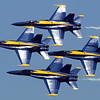The Blue Angels zoom by during Saturday's performance at the Minnesota Air Spectacular Saturday at the Mankato Regional Airport.