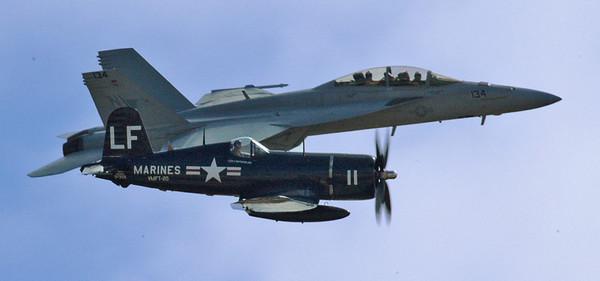 F18 Hornet and F4U Corsair