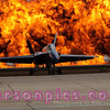 Blue Angel in flames