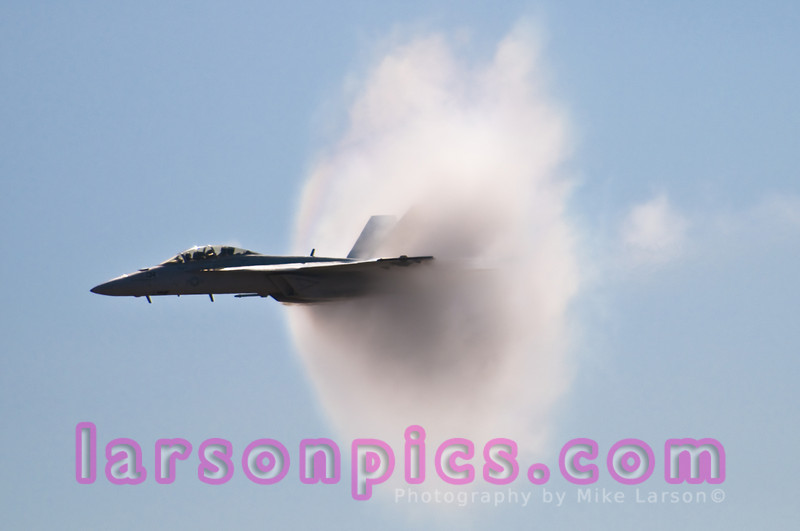 F-18 Creating Sound Barrier Pressure Cone