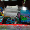 tons of school supplies donated from AJ and Nick's Summer Stretch program. Now I have to ship it all...but to where?