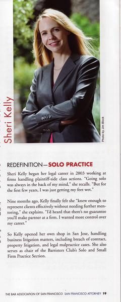 Sheri's article in SF Attorney magazine.