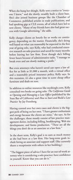 Sheri's article in SF magazine.