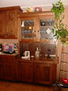 "walnut kitchen hutch with shaker doors--with 3"" styles and rails"