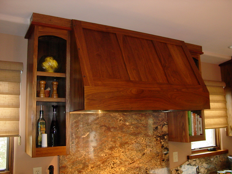 Walnut hood enclosure