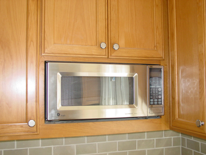 """Microwave"" in 12"" deep Upper Cabinet without trim kit"
