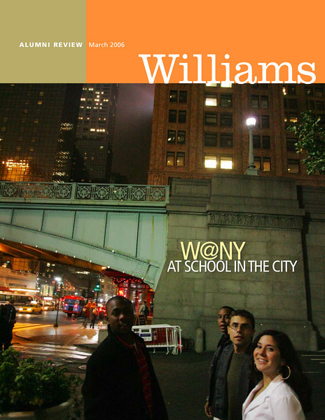 "<br><h1 style=""font-family:myriad pro""> <h3> <center>  <br> Williams College Alumni Review   Cover Story: Williams in New York <br> <a href=""http://benrudick.smugmug.com/gallery/3540548"" target=""_blank""> Read the Story</a>"