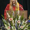 Gabrielle Dean, SCA President, addresses her fellow classmates.