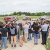 The student body watches a mock car wreck put on by the Elkton Vol. Fire Co, Elkton Rescue Squad, Rockingham County Dept of Fire/Resue, Rockingham Sheriffs Office, Air Care 5, and the VA State Police