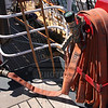 Hose on the USCG ship Eagle