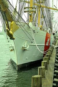 USS Eagle, Coast training ship, dock at Portland Harbor, Maine  http://en.wikipedia.org/wiki/USCGC_Eagle_(WIX-327)