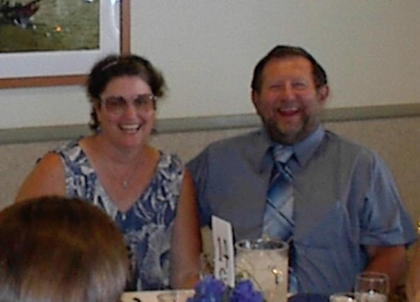 Kathryn and Dave at Melissa's wedding in Aug 2002