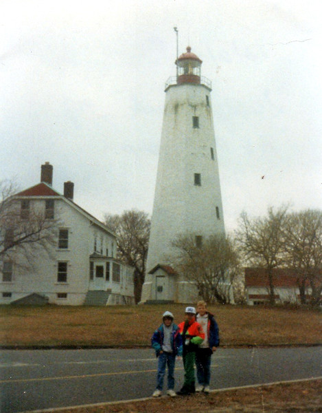 Sandy Hook Lighthouse --<br /> Andrew Eljdid, Ken Karnas and myself on one of our cool AEP class trips in 1992 (4th grade).