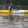 Dianne's first kayak experience; Lake Bowen, SC, July 8, 2012.