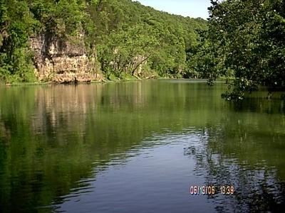 Meramec River runs along the parks. June 2006