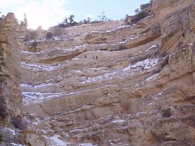 South Kaibab Trail switch backs. Grandcanyon,Az. Dec 2002