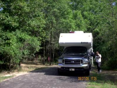 Campsite at Lake D'Arbonne State Park, Louisiana. June 2006