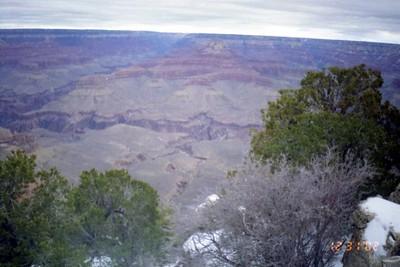 View from the Rim Trail, Grandcanyon,Az.  Dec. 2002