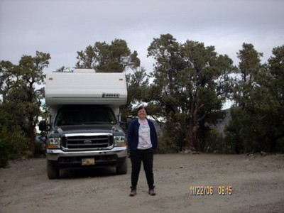Mahogany Flat campground, Death Valley, Ca. 8133 ft/ 2479 m. Nov. 2006