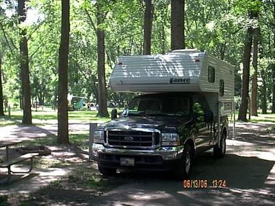 Campsite at Meramec Park. June 2006