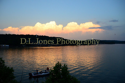 storm clouds brew on this late afternoon at the Lake of the Ozarks.