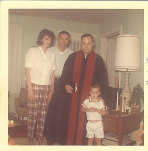 1966 July - Tim's Baptism at Camp LeJeune w-Chaplain Vondracek