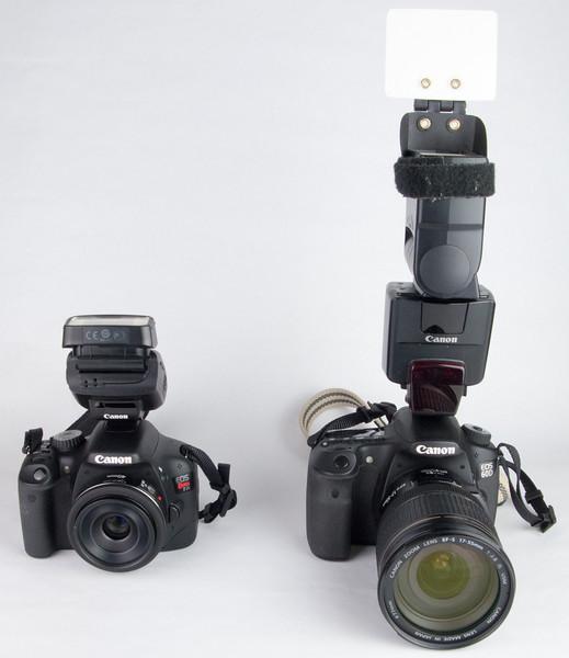 Canon T2i + 40mm Pancake lens + 270EX.<br /> Canon 60D + 17-55mm f/2.8 lens + 550EX + Demb Classic Flip-It