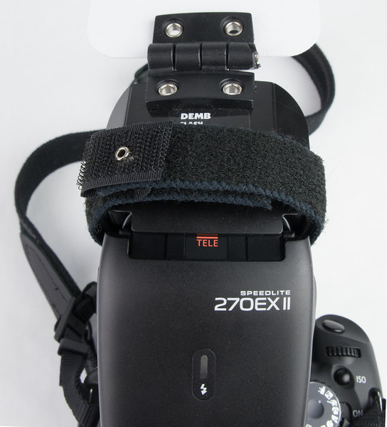 Canon T2i + 40mm Pancake lens + 270EX + Demb PJ Flip-It with flash extended forward.