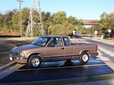 Our super-clean Chevy S-10. It's a 1996 model but only has about 30K miles on it!