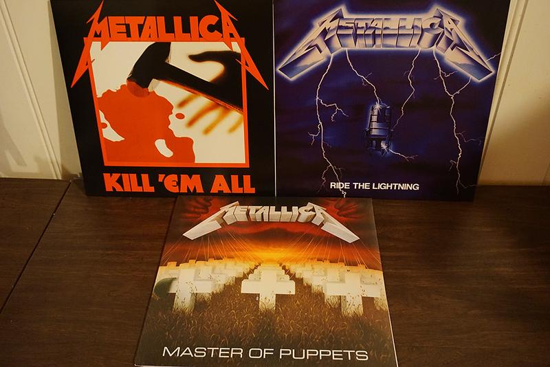 Metallica Remasters: Kill 'Em All, Ride the Lightning & Master of Puppets, Black Vinyls